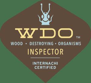 "WDO ""Wood Destroying Organisms"" Inspector Internachi Certified Logo"
