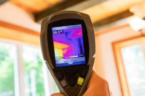 Device showing Mold reading results
