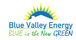 Blue Valley Energy/ BLUE is the New GREEN Logo